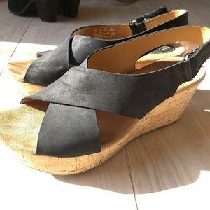 Clarks strappy wedge sandals